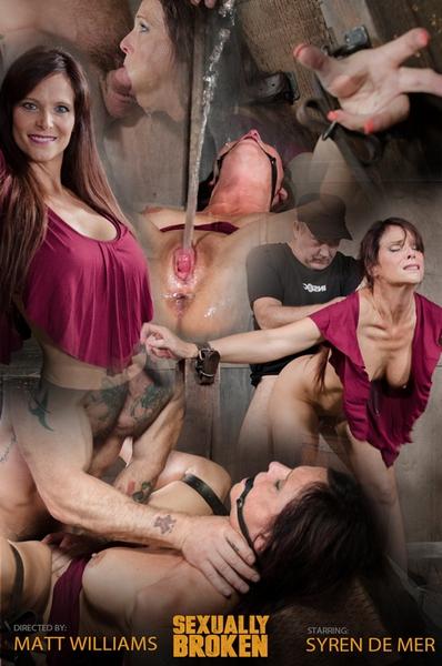 Syren De Mer - Sexy MILF Syren De Mer gets what she wants; brutal face fucking, two cock beatdown! [SexuallyBroken.com / HD 720p]