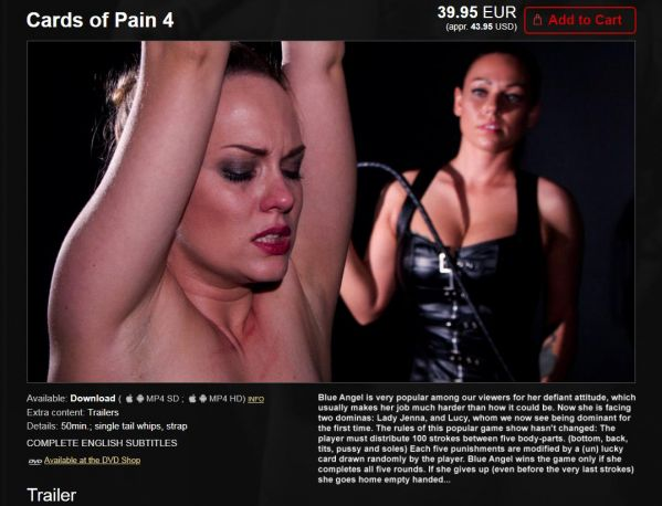 Lady Jenna, Mistress Lucy & Blue Angel - Cards Of Pain (2020 / HD 720p)
