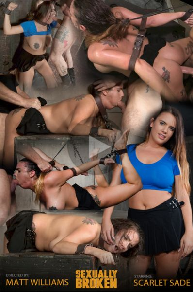 Scarlet Sade - Sexy Girl Next Door has her first Bondage and rough sex experience, gets destroyed by cock! [SexuallyBroken.com / HD 720p]