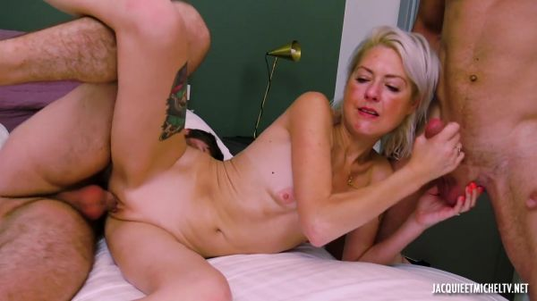 JacquieetMichelTV: Sophie - At 40, Sophie bites two guys for the first time (03.08.2020) (FullHD/1080p)