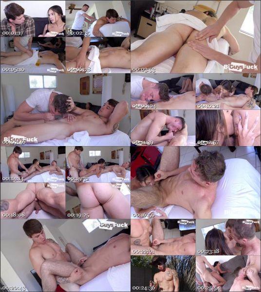 BiGF - Jeremy Barker & Skylar Angel have Brian Kush over for massage therapy