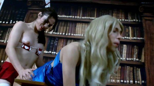 Trans: Tia Tizzianni - NYXI and Alexa SUCKING FUCKING LIBRARY (07.09.2020) [FullHD/1080p]