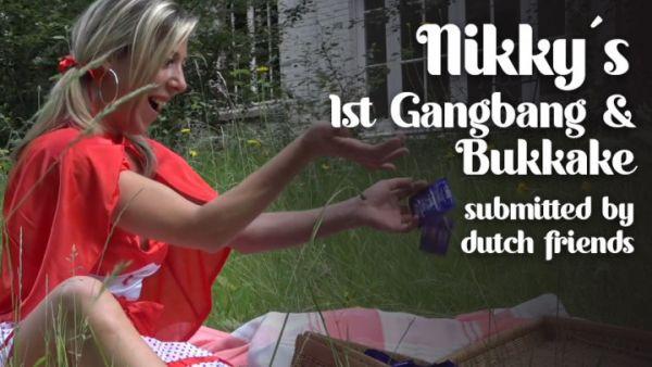 Bukkake  - Nikky's 1st Gangbang & Bukkake (17.09.2020) with TexxxasBukkake  (FullHD/1080p) [2020]