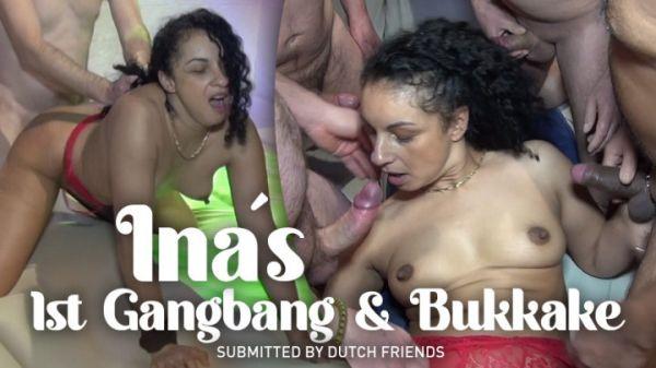TexxxasBukkake  - Ina's 1St Gangbang + Bukkake (21.09.2020) [FullHD 1080p] (Bukkake)