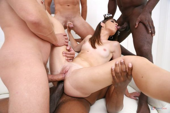 Sara Bell - Teen pet Sara Bell gangbanged by 6 guys with hardcore double penetration SZ2500 (HD/2020) by LegalP0rno