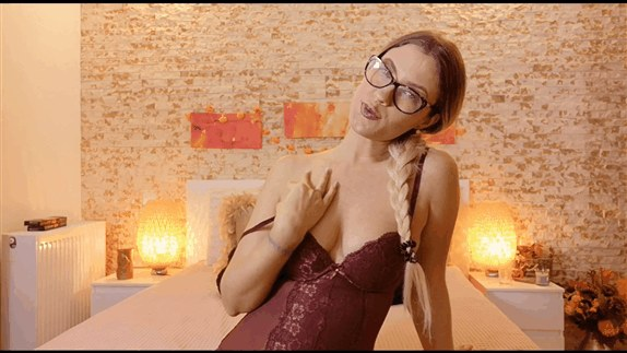 Goddess Natalie - Lick your cum off my round boobs