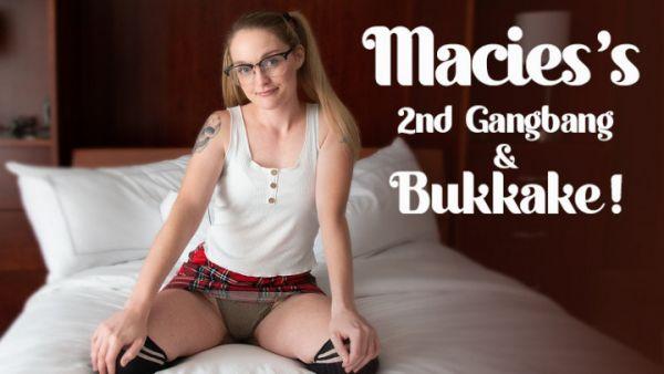 TexxxasBukkake  - Macie's 2nd Gangbang & Bukkake (07.10.2020) [UltraHD/4K 2160p] (Bukkake )