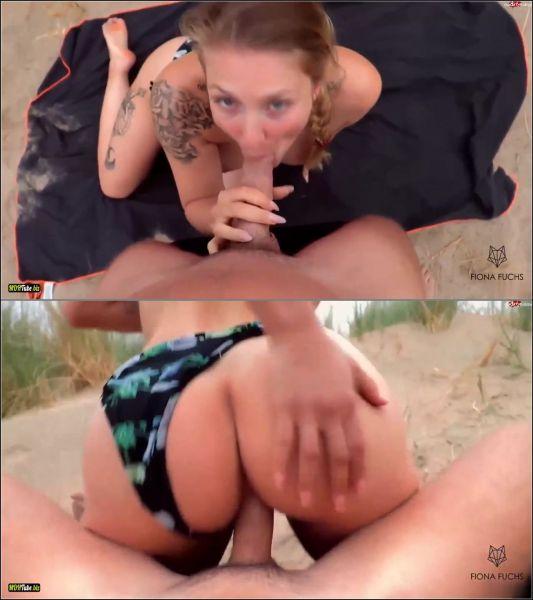 Fiona-Fuchs - Creampie Schnellfick-Date am Strand