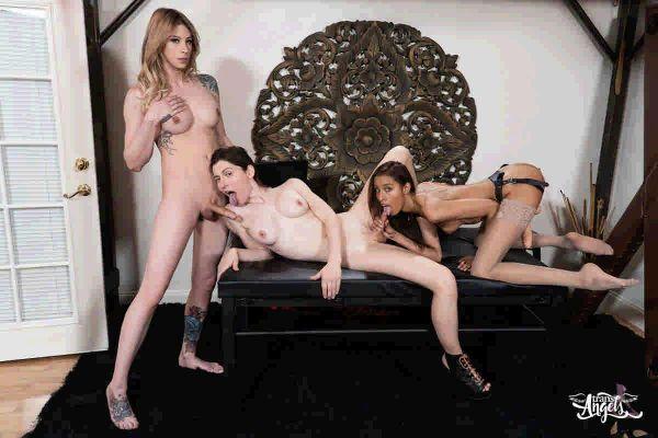 Korra Del Rio, Casey Kisses, Kylie Le Beau -   Cuckhold My Dildo For Me   (TransAngels/FullHD/2020)