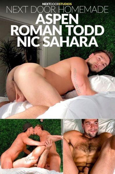 NextDoorHomeMade - Hot Porn Star 3-way with Aspen, Nic Sahara & Roman Todd