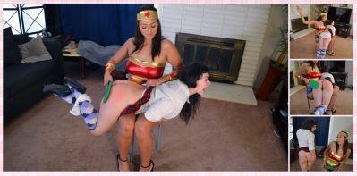 SpankingSororityGirls – Episode 246: Bella Gives Elori Halloween Spanking