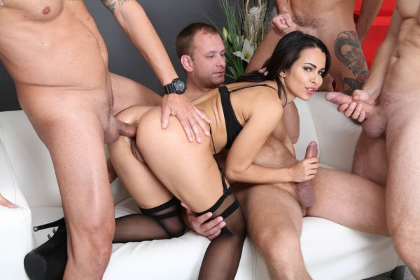 Jessy Jey - DAP Destination, Jessy Jey 4on1 Balls Deep Anal, DAP, Gapes Creampie and Swallow GIO1611 (HD/2020) by LegalP0rno