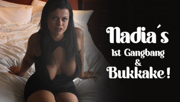 TexxxasBukkake  - Bukkake - Nadia's 1st - Gangbang & Bukkake (07.11.2020) (FullHD 1080p) [2020]