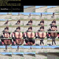 Antonia - Pissing on the steps (FullHD 1080p)