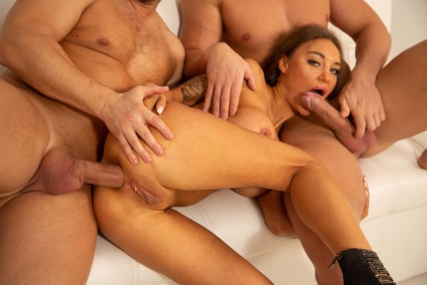 LegalP0rno: Monika Fox - My First DP, Monika Fox gets it only Balls Deep with Anal, DP, Gapes, Squirting and Swallow GL339 (HD/720p)