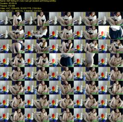 Cute Cam girl student self fisting (SD 480p)