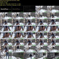 Esperanza - Spurted piss in the snow (FullHD 1080p)