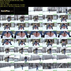 Gianna - The snow melts from the pressure of warm urine (FullHD 1080p)