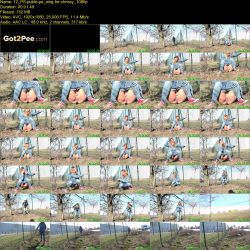 Chrissy - Sweet beauty public peeing (FullHD 1080p)