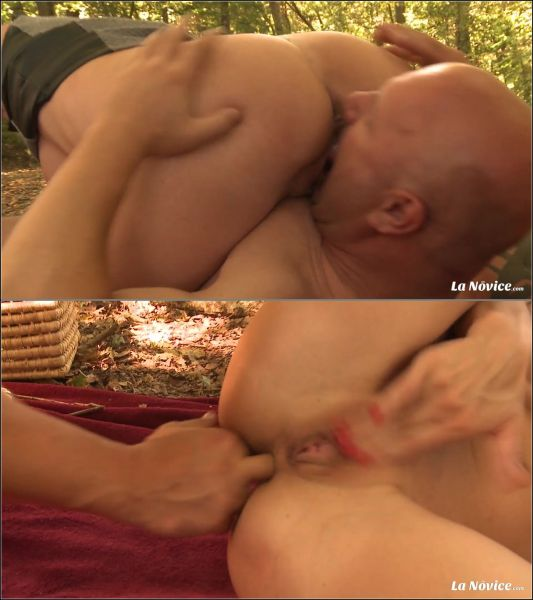 Euro Amateur: Mia Wallace - Amateur blonde French newbie fucks outdoors and gets mouth filled with cum (FullHD/1080p)