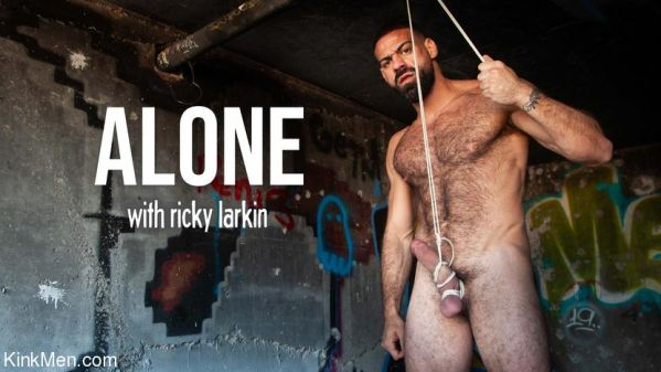 KinkMen - Alone - Ricky Larkin Ties Up His Cock & Balls in an Abandoned Factory