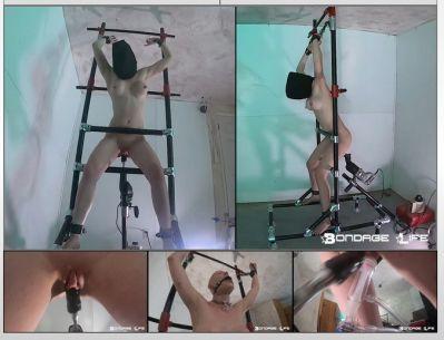 Bondage Life – The Ladder – Starring Dart_Tech, Rachel Greyhound