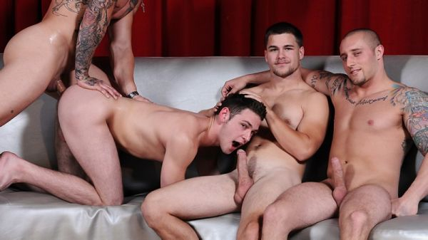 MN - Jizz Orgy - Fuck Club 2 - Cameron Knight, Duncan Black, Jimmy Johnson and Sebastian Young