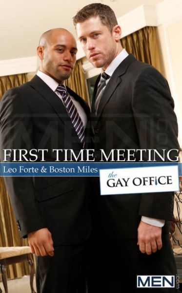 MN - The Gay Office - First Time Meeting - Leo Forte & Boston Miles