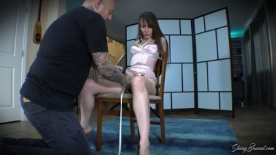 Shiny Bound – Ziva Fey.. Sexy Lingerie Chairtie