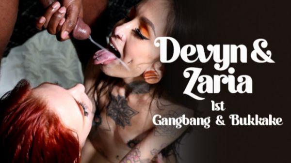 Devyn, Zaria -  1st Gangbang & Bukkake (27.12.2020) [FullHD 1080p] (Bukkake)