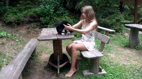 Pilgrim Girl Art Black Cat video