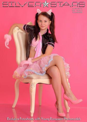 Silver-Stars Taira Pink Dress 1