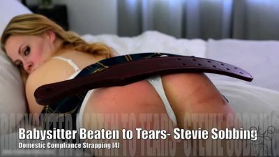 Naughty Babysitter – Stevie Rose Caned Sobbing – 5
