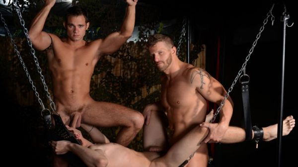 DF - Sweatbox - Threesome - Jeremy Stevens, Cooper Reed, & Shane Jacobs