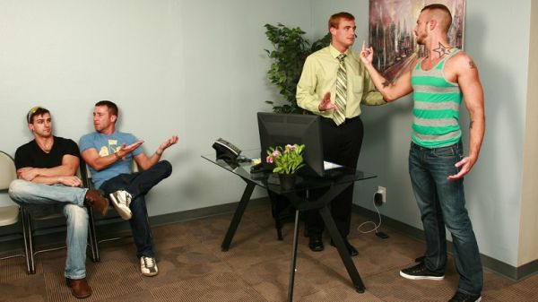 MN - TheGayOffice - Bitchy Receptionist - Jessie Colter, Jessy Ares & Ryan Raz