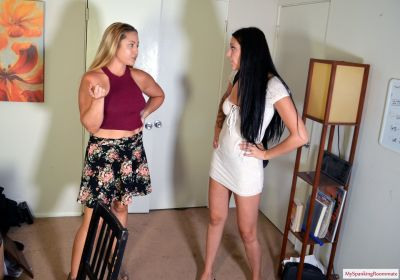MySpankingRoommate – Episode 385: Iris Spanked By Madison In Office