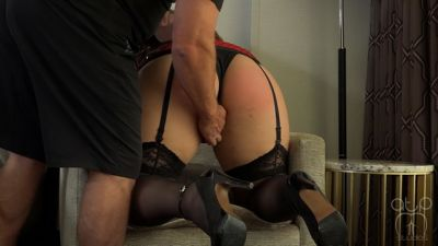 Assumethepositionstudios – Vintage Lingerie Belt Whipping