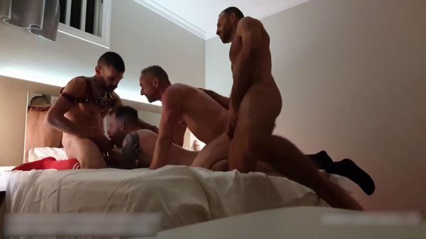 RFC - Orgy in Gran Canaria (fucking part 1) with @VadimRomanovXXX and other 2 guys