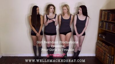 Wellsmackedseat – Four Girls in Trouble 4