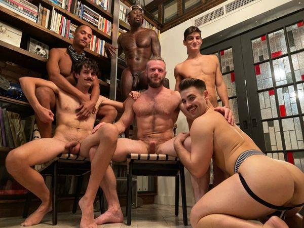 JFF - Brian Bond's Birthday Orgy - Avatar Akyia, Declan Blake, AJ Sloan, Aiden Ward & Jonah Wheeler