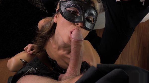 Masked Petite Double Penetrated