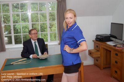 FirmHandSpanking – Lucy Lauren – Spanked in Uniform – ZB