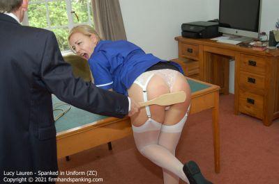 FirmHandSpanking - Lucy Lauren - Spanked in Uniform - ZC