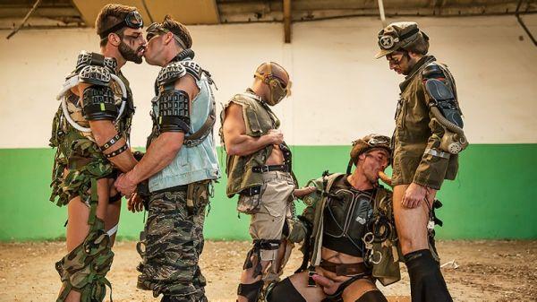 MN - JizzOrgy - Apocalypse Part 4 - Damien Crosse, Dario Beck, Hector De Silva, Jay Roberts, Paddy O'Brian