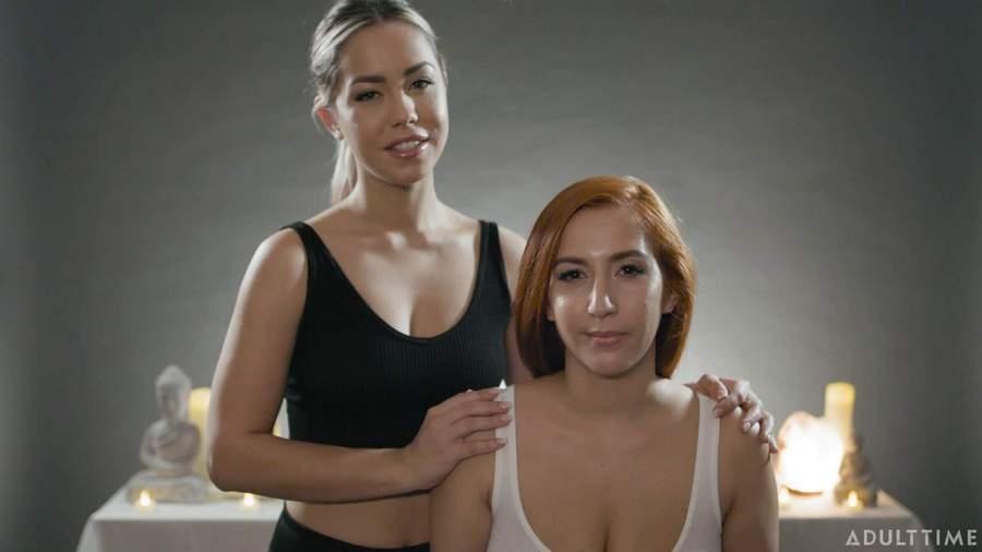 Lesbimania Alina Lopez and April O'Neil – ASMR Roleplay Fantasy – Full Body Mass