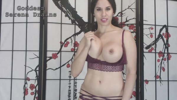 Goddess Serena Drains - Edge to Self Facial: extended CEI with cumplay ending