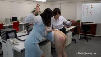 Hand-Spanking – Yuu, Noa, Fuka – The Company Rules Part Two