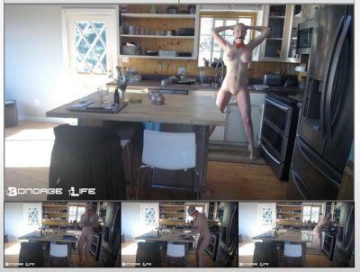Bondage Life - In The Kitchen Rachel Greyhound