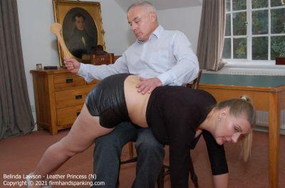 FirmHandSpanking - Belinda Lawson - Leather Princess - N