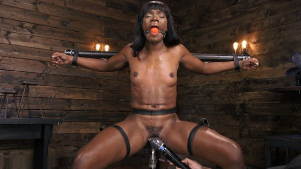 Ana Foxxx Is Machine Fucked, Flogged, Shocked And Made To CUM